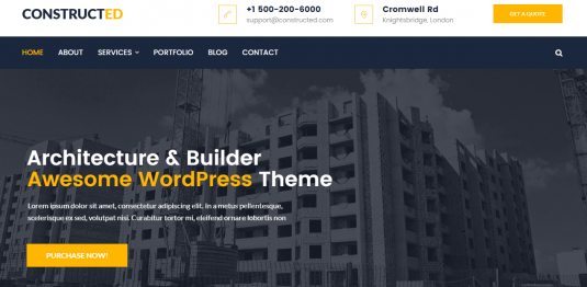 Constructed Wordpress Theme